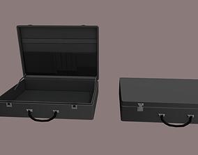 3D model realtime Black suitcase