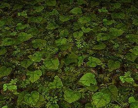 ground leaf tile 10 3D
