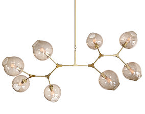 Ceiling lamp Branching Bubbles Gold 8 lights 3D