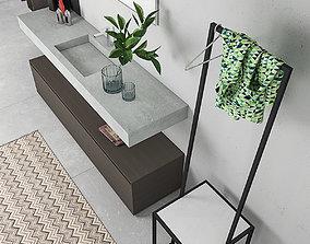 3D model Bathroom furniture set Arcom Escape 5