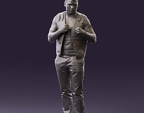 Man in black vest jeans boxer pose 0815 3D Print Ready