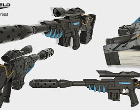 Terra Nova canister rifle Starcraft 2 3D printable model