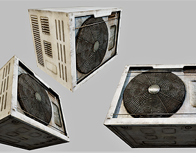 3D model Rusty Air Conditioner 02 PBR