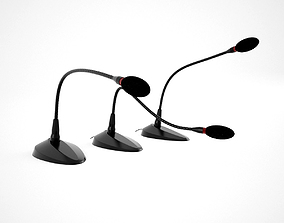 Microphone Office Set 3D model