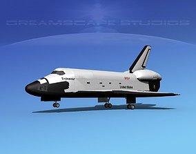 3D Space Shuttle Endeavour Landing MP 2-3