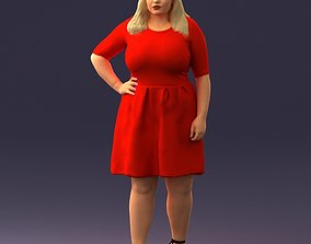 Woman in red 1016 3D model