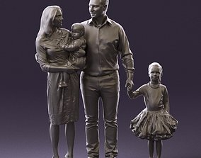 Family man woman child and girl 0918 3D Print