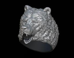 3D print model Bear ring