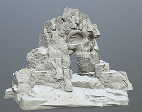 3D printable model skull cave