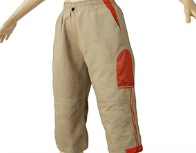 Trousers Cargo Pants Green Red Clothing Women 3D asset