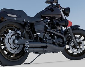 3D model Harley Davidson Low Rider Custom Darkness
