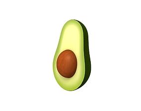 Avocado 3D asset