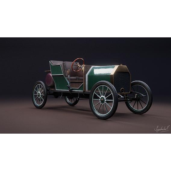 gameready retro car