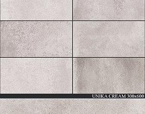 ABK Unika Cream 300x600 concrete 3D