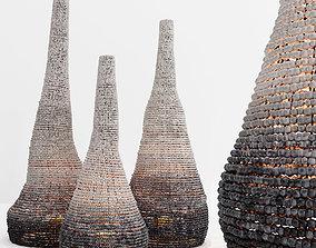 Moringa floor sculptures 3D