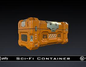 3D asset SciFi Container