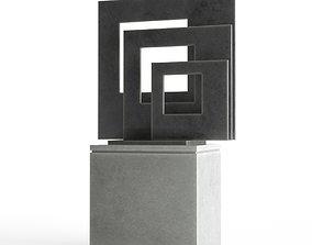 Modern Decorative Abstract Metal Art Sculpture 01 3D model