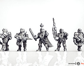 Feudal Guard Elite infantry 3D printable model
