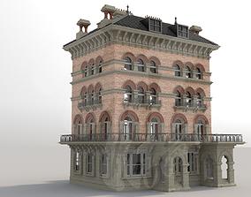3D model brick Victorian building