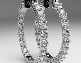 Diamond hoop earrings round rings printable luxury