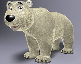 Cartoon Polar Bear Rigged 3D asset