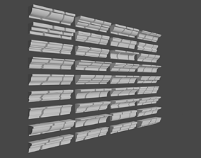 Roof cornise moulding set 3D model