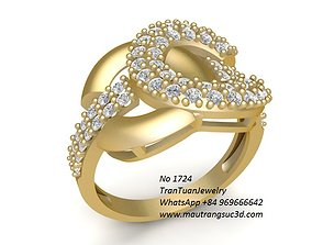 3D print model 1724 Diamond Ring