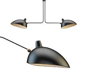 3D model Serge Mouille Ceiling Lamp