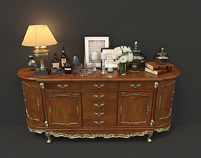 Classic Chest Of Drawer and Decoration 3D