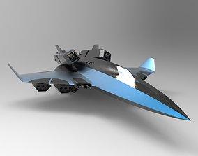 Sci fi Aircraft 3D asset animated