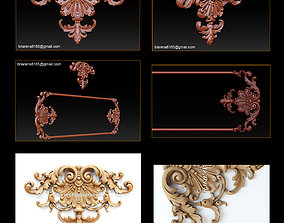 onlay 3D STL Models CNC Router - Carved decor