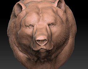 The head of the bear 3D print model