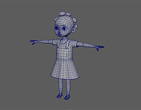 3D Young Cute African Girl