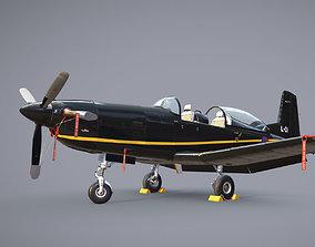 3D asset Pilatus PC-7 Mk-I HLBlack