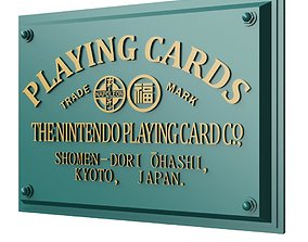 3D printable model Nintendo former headquarter plate Kyoto