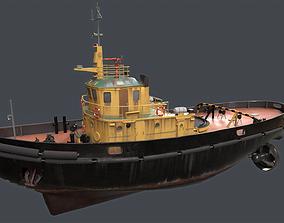 Old boat fishing boat 3D model realtime