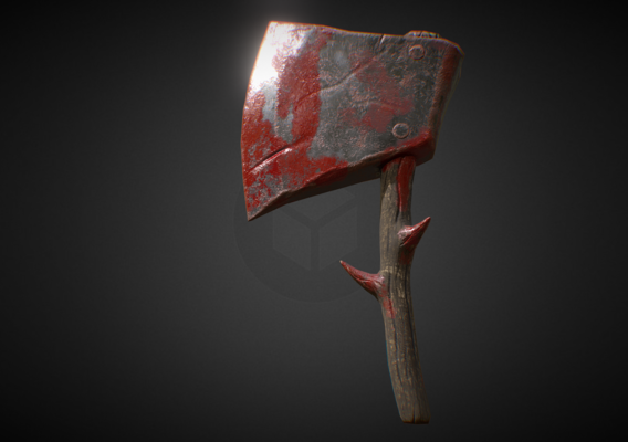 Low Poly PBR Ax