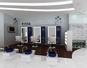 salon interior design visualisation 3D