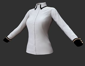 Blouse 3D model woman