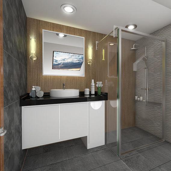 Bathroom cozy ambiance