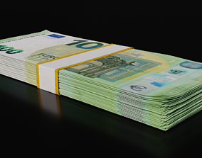 Money Stack - 100 Euro - Coins -High Quality 3D