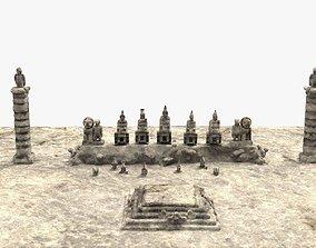 Nemrut mountain kommagene kings 3D model