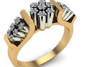 gold WOMAN RING 3D print model