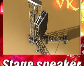 3D Stage Speaker Truss High Detail