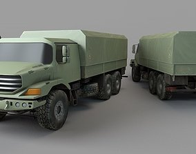 Military vehicle 3D asset low-poly