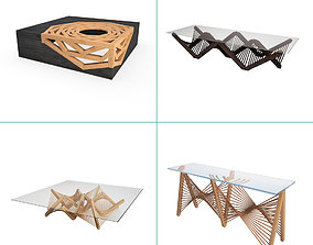 3D model Wooden Graphic Tables And Consoles Collection
