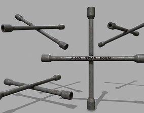 Lug Wrench 3D asset