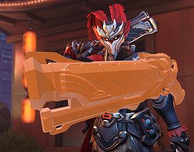 Overwatch Reaper Lu Bu Hellfire Shotgun 3D print model