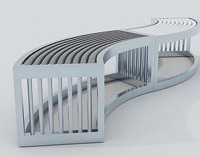 Metal Bench 3D model realtime