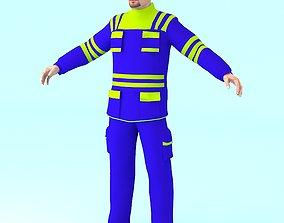 3D asset RIGGED WORKER MAN
